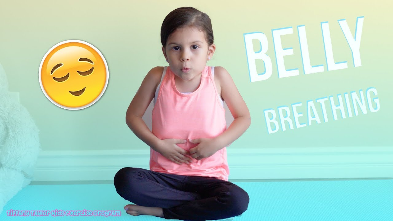 Yoga Poses : BEST EXERCISE for KIDS Belly/Balloon Breathing