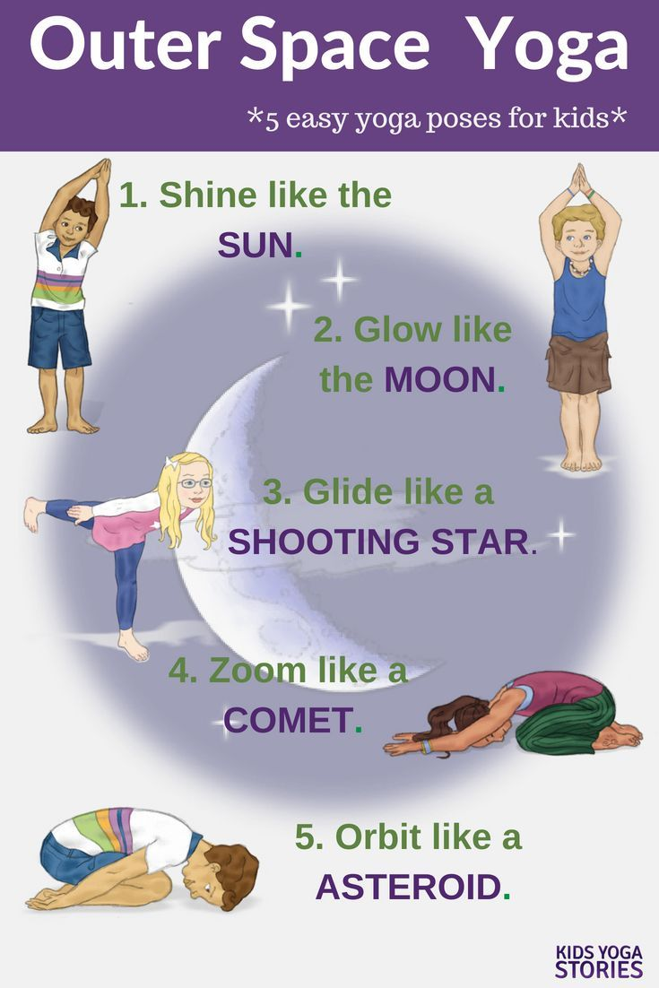 Outer Space Yoga and Book ideas!  Learn about the solar system through children'...