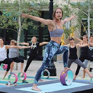 A yoga & fitness wheel class. A leg workout worth stretching for.