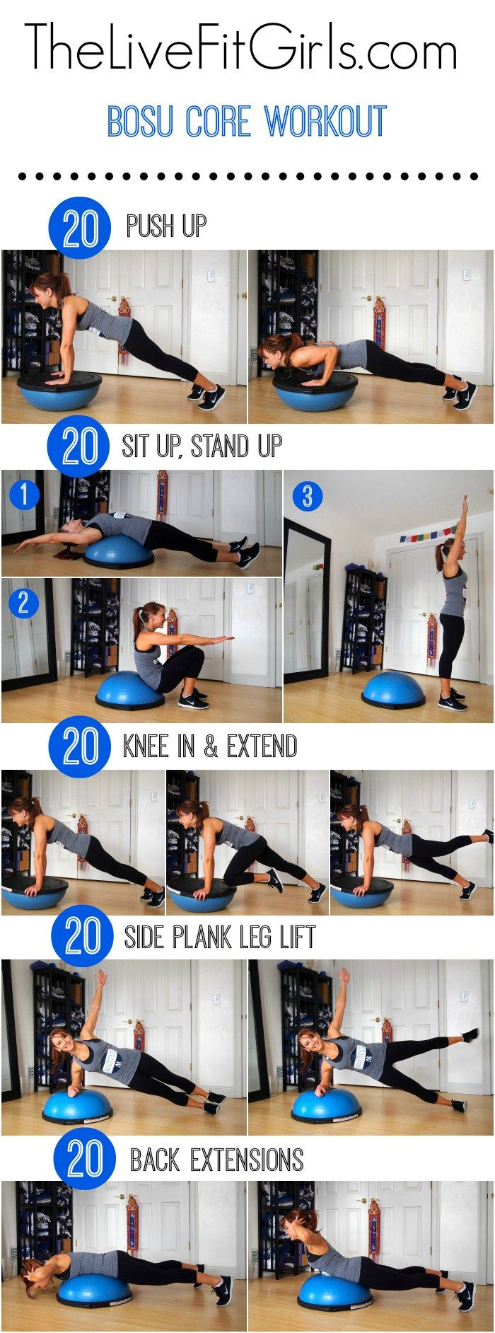 Bosu Core Workout.