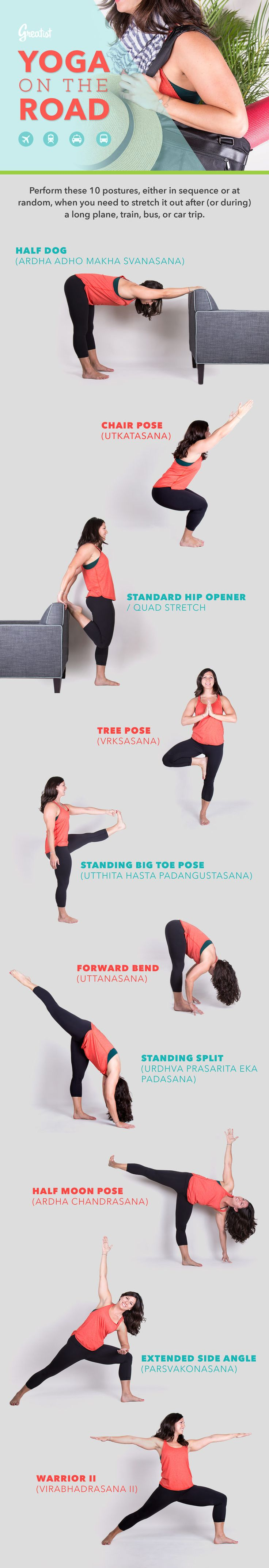 Get the blood flowing with these moves you can do anywhere your travels take you...