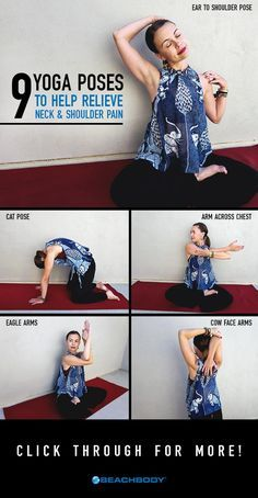 If you find yourself having neck and shoulder pain, do these nine yoga poses to ...
