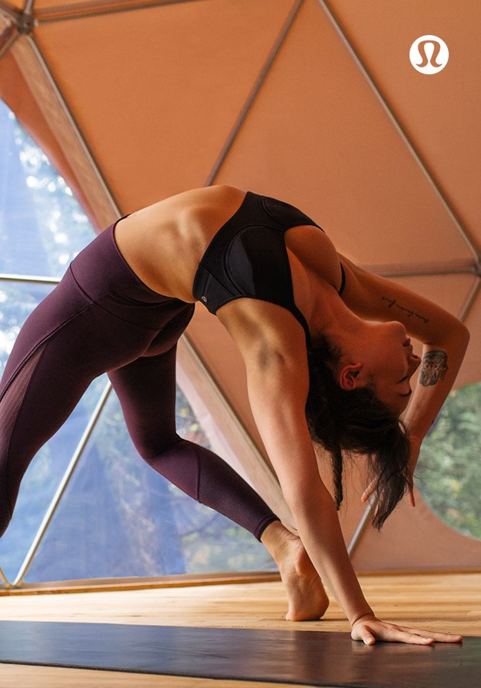 The lululemon Deep Breath tight reinvents the beauty of breathing.