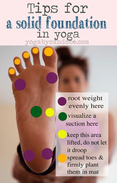 Tips for a solid foundation in yoga | How to position and use your feet in yoga ...