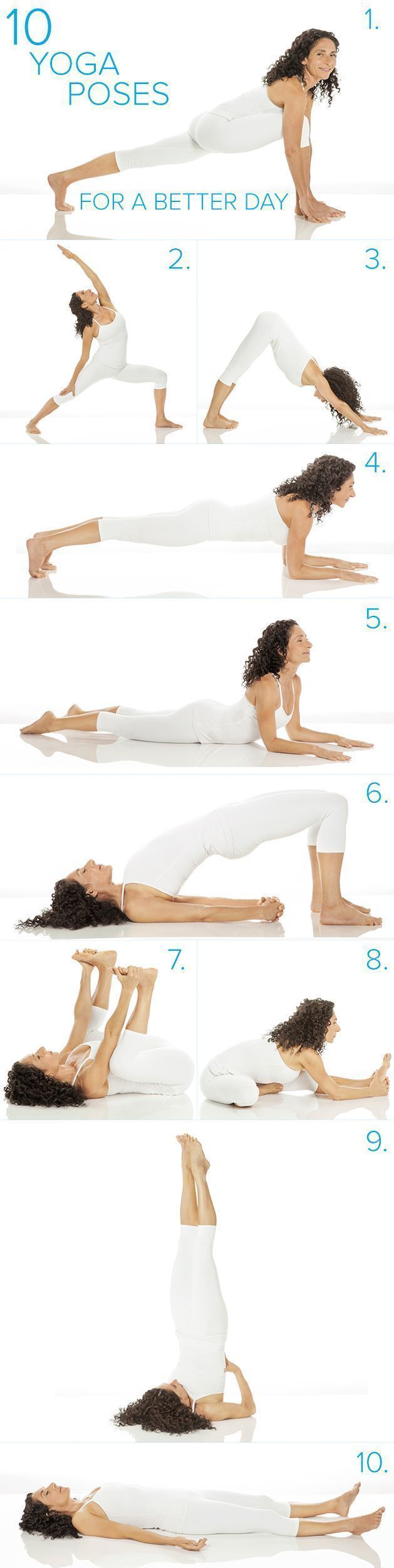 Try doing these easy yoga poses to boost your mood. This workout routine just ta...