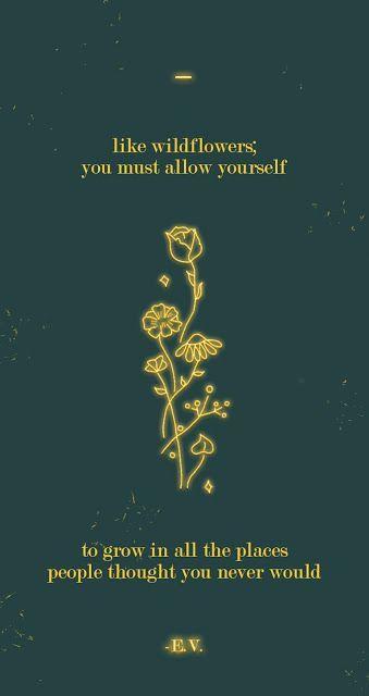 Free Motivational Phone Wallpaper: Neon Wildflowers #wallpaper
