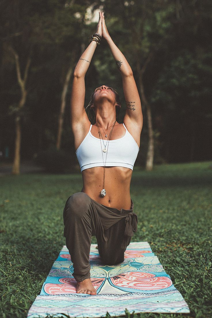 Yoga postures and poses.