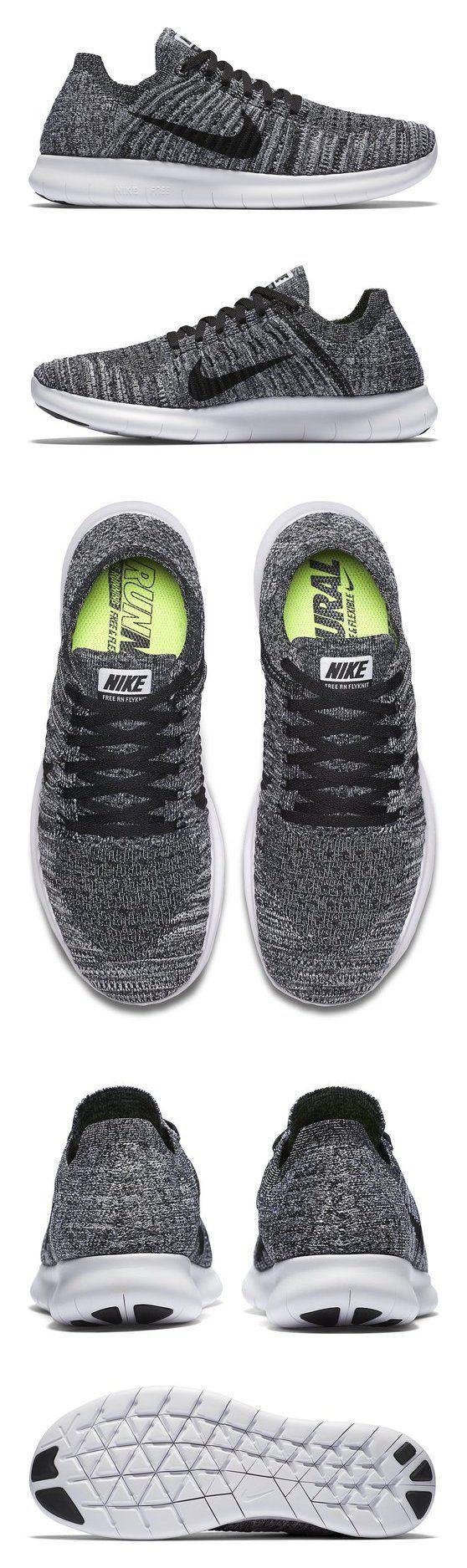$130 - Nike Women's Free Rn Flyknit Running Shoe White/Black 9 B(M) US #shoes #n...