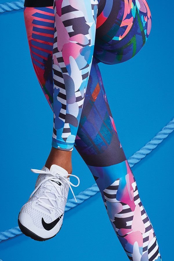 Energize your workout with a print inspired by the laid-back beach and eclectic ...