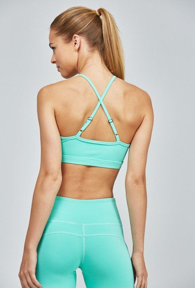 Kelly Bra - Mint - Nóli Yoga ♡ Workout Clothes | Yoga Tops | Sports Bra | Yog...