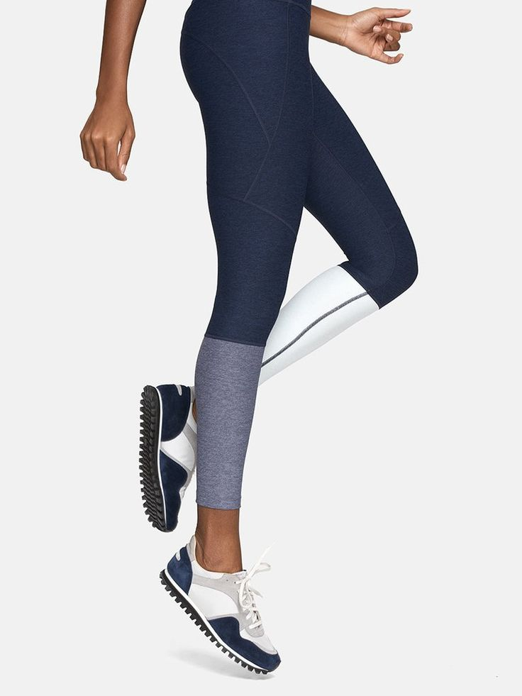OUTDOOR VOICES LEGGINGS. Midweight legging with colorblocked ankle detail and hi...