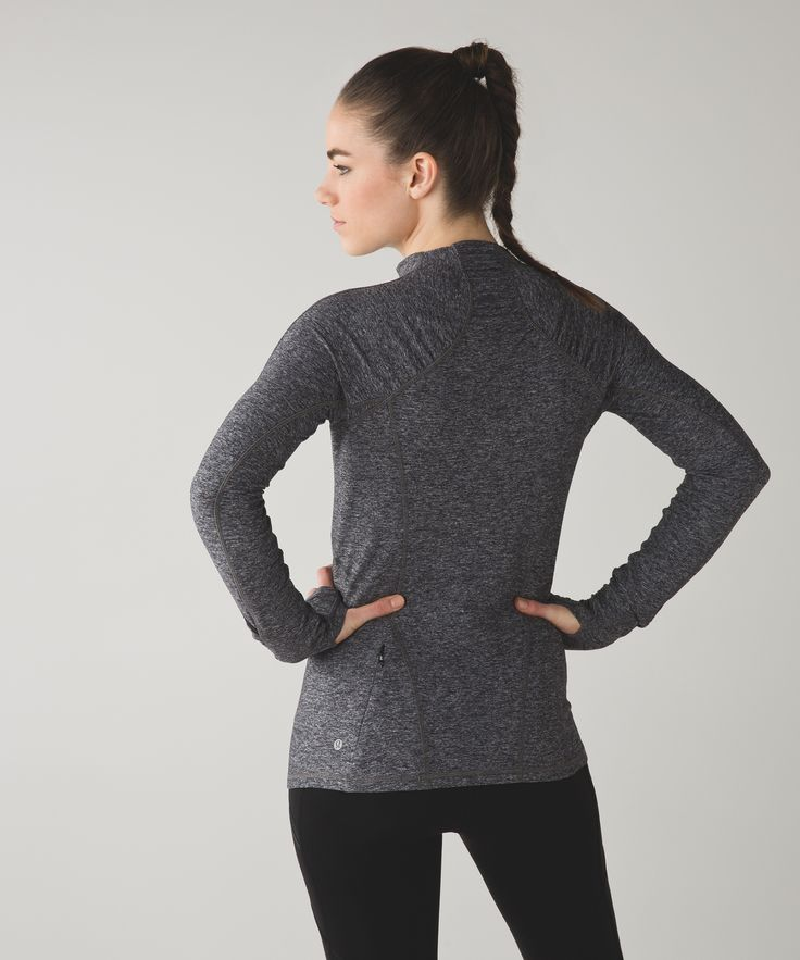 This cozy long sleeve helps you turn up the heat on cold weather runs—go ahead...