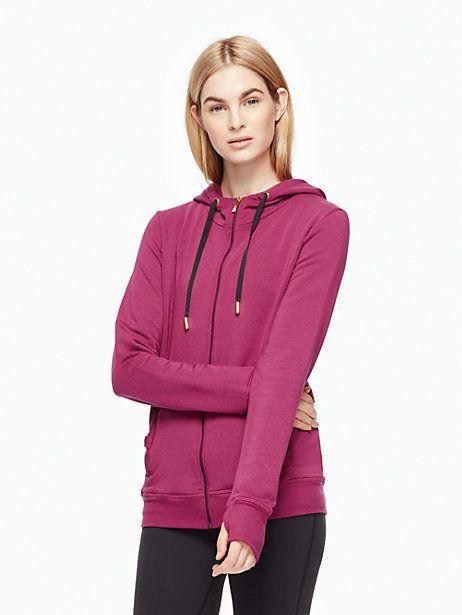 cozy fleece tab bow hoodie