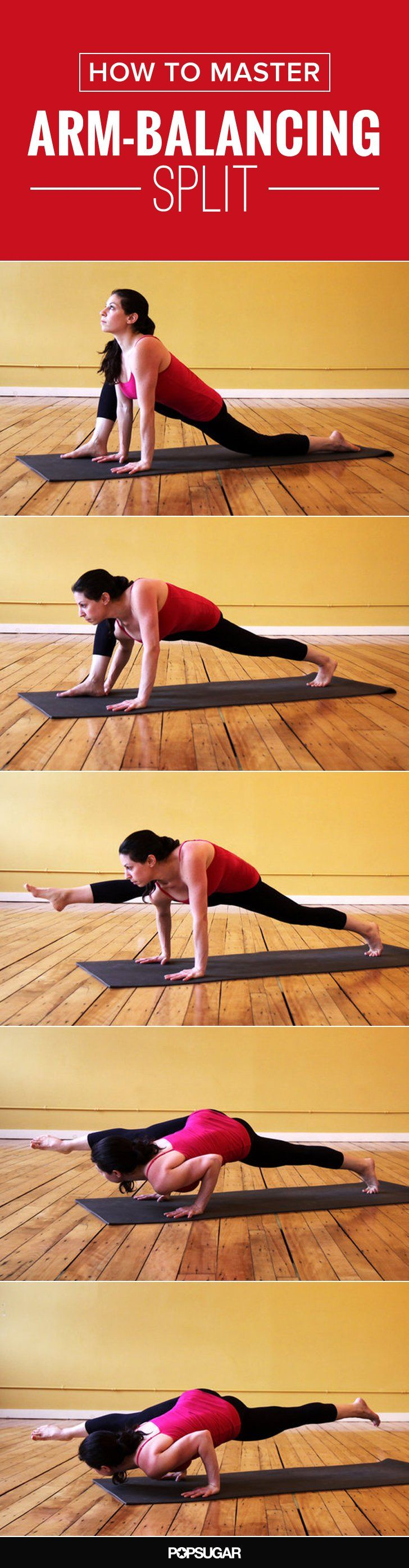 ☆ YOGA POSES ☆:  Yoga Takes Flight! Arm-Balancing Split.