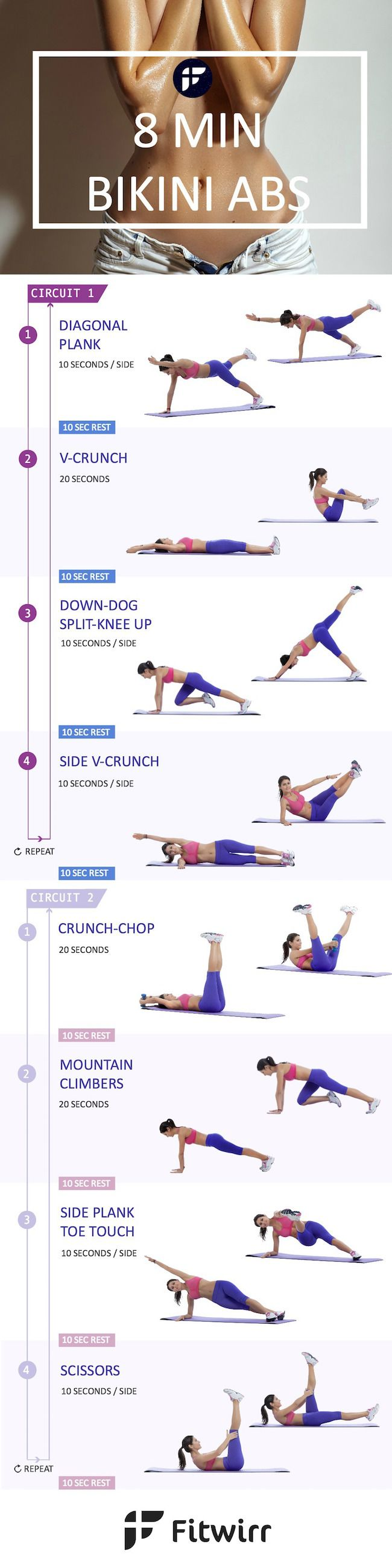 8 minute ab workout - we all have 8 minutes to work on our abs!