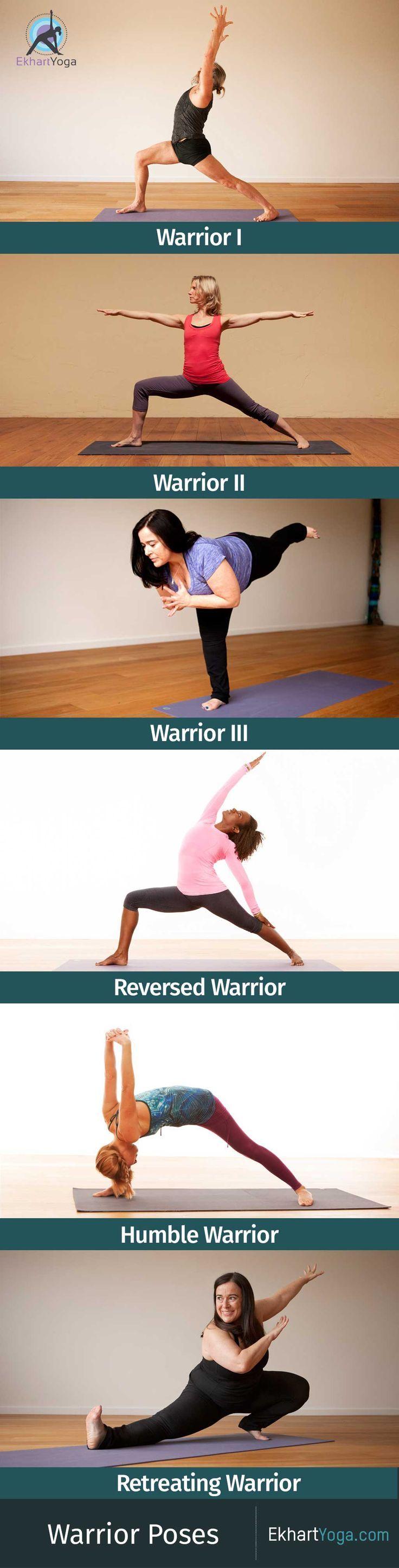 A look at the 5 main variations of Warrior Pose / Virabhadrasana plus Retreating...