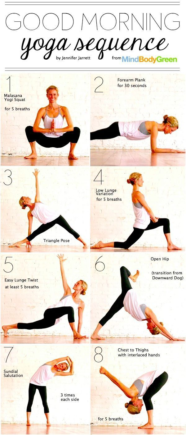 Good Morning #Yoga Sequence (15 min) - CORRECTED and attributed to original sour...