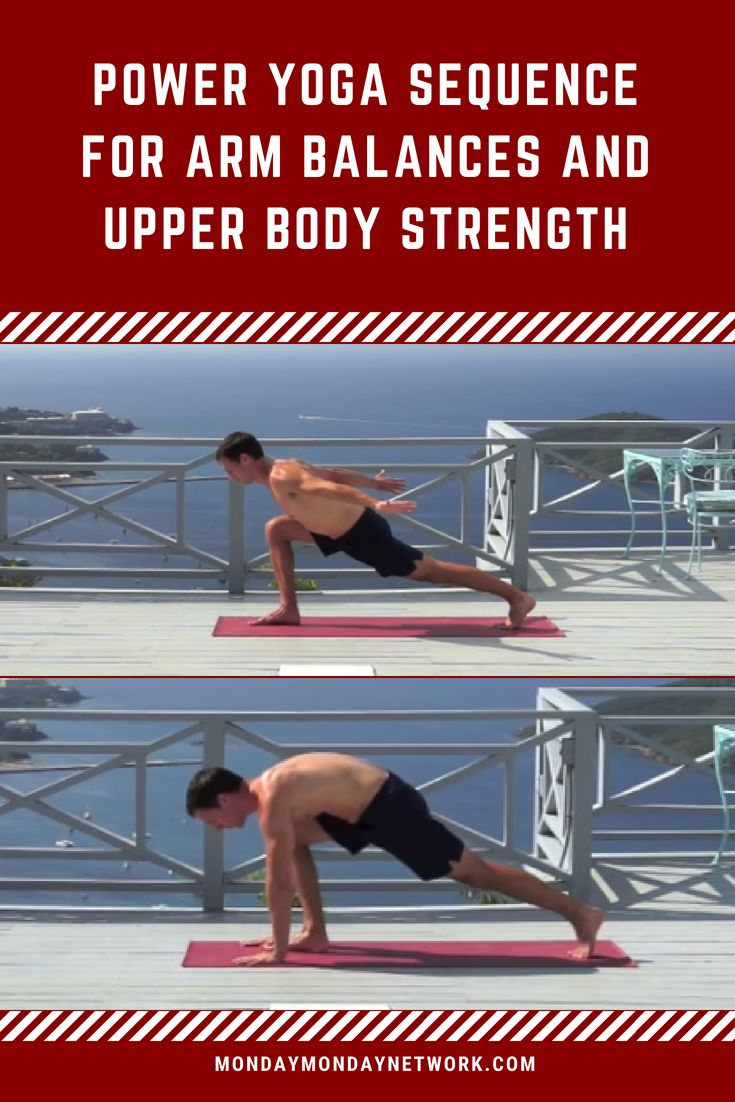 A power yoga sequence that prepares and conditions the body for arm balances by ...