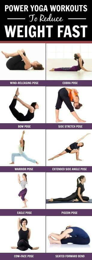Images of some yoga poses - no link to power workouts