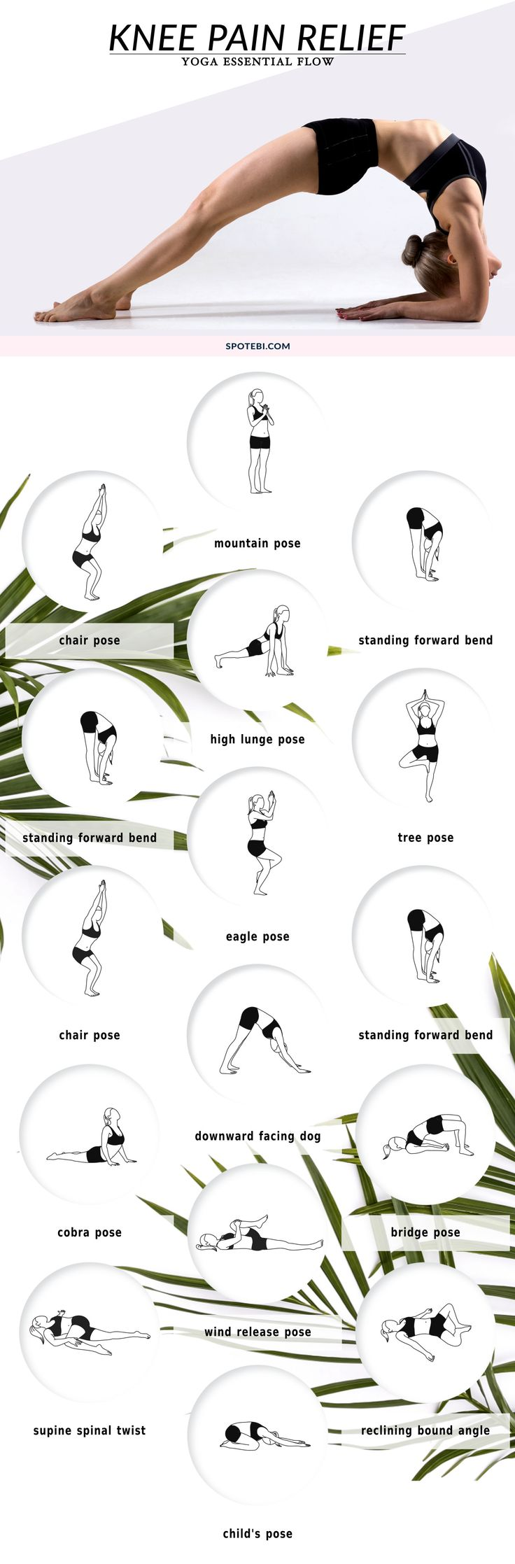 Relieve knee pain at home with this 12-minute yoga essential flow. Perform these...