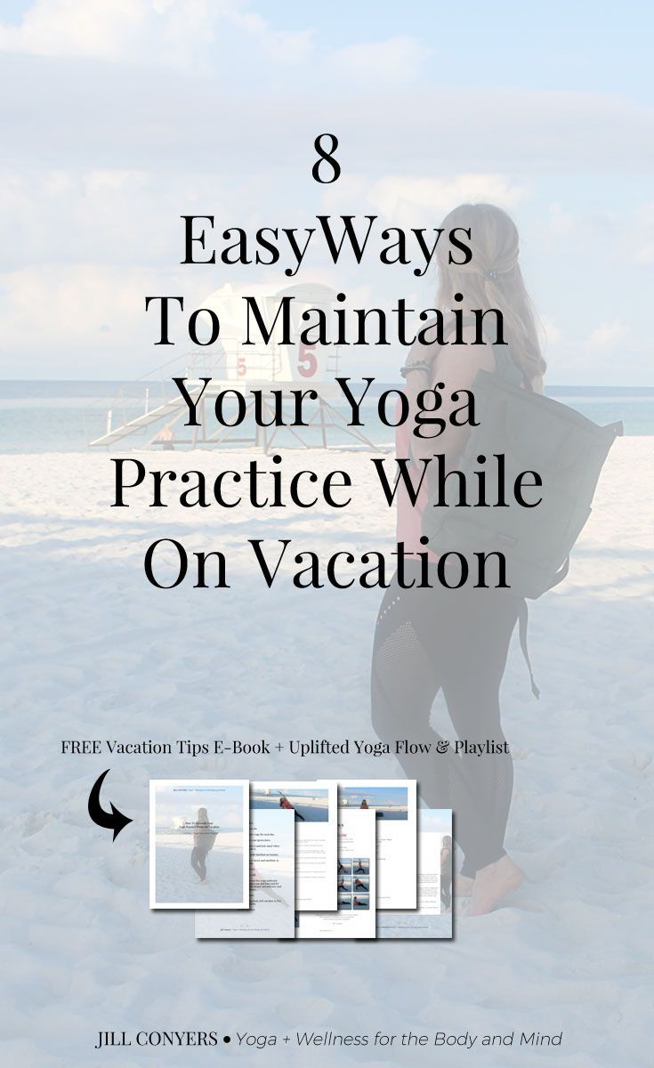 There are easy ways to maintain your yoga practice when you're traveling and why...