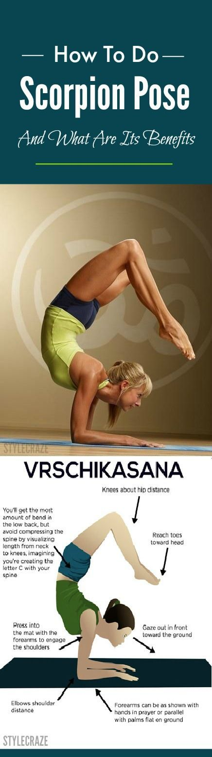 This asana is also known as the Scorpion Pose. It requires both core and shoulde...
