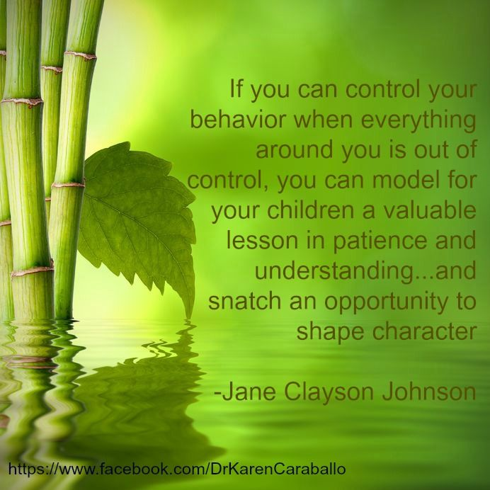 """""""If you can control your behavior when everything around you is out of control..."""