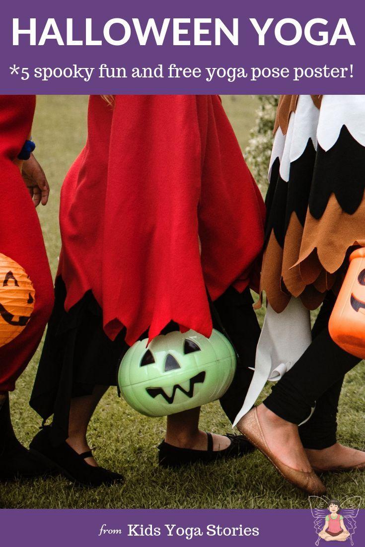 Halloween Yoga! Yoga poses, yoga poster, halloween activities and more!  Free do...