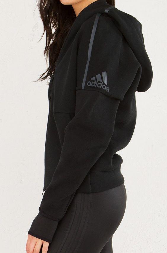 ADIDAS ZNE Zippered Hoodie in Black:  | Fitness Apparel | Shop @ FitnessApparelE...