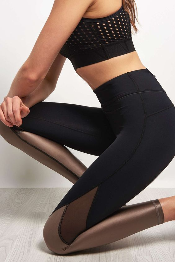 Alala Captain Ankle Tight - Liquid Bronze FitnessApparelExp... ♡ Women's Worko...