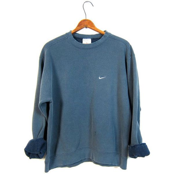 Faded Blue Nike Sweatshirt Washed Out Distressed Athletic Pullover... ($28) ❤ ...