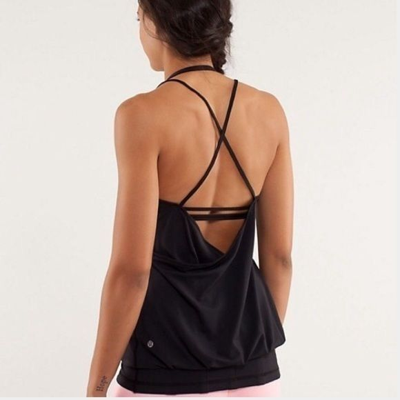 Lululemon Flow and Go Strappy Tank No longer available..Worn one time and still ...