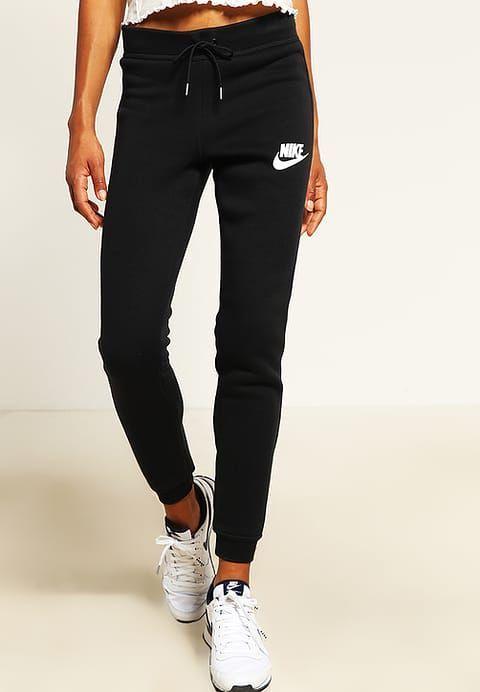 Nike Sportswear RALLY - Pantalón de deporte - black/antique silver/white - Za...