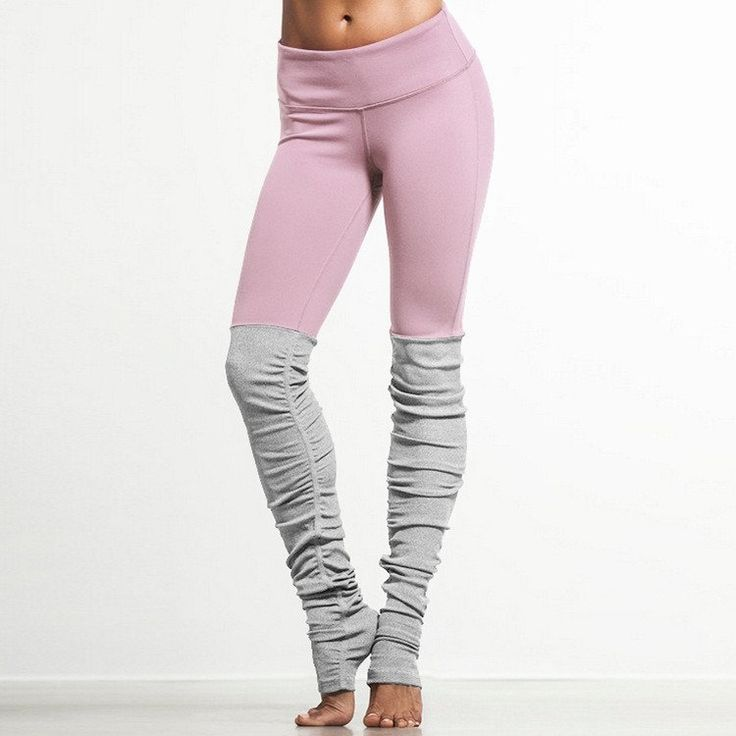 Ribbed Yoga Leggings With Gray - Rebel Style Shop - 3