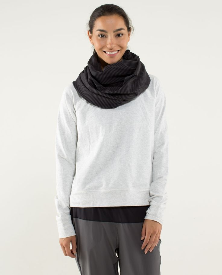 Vinyasa Scarf with snaps on from lululemon- 10 different ways to wear it! Not on...