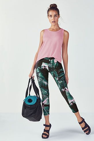 Wave hello to summer's favorite set, which includes a semi-cropped tank and ...