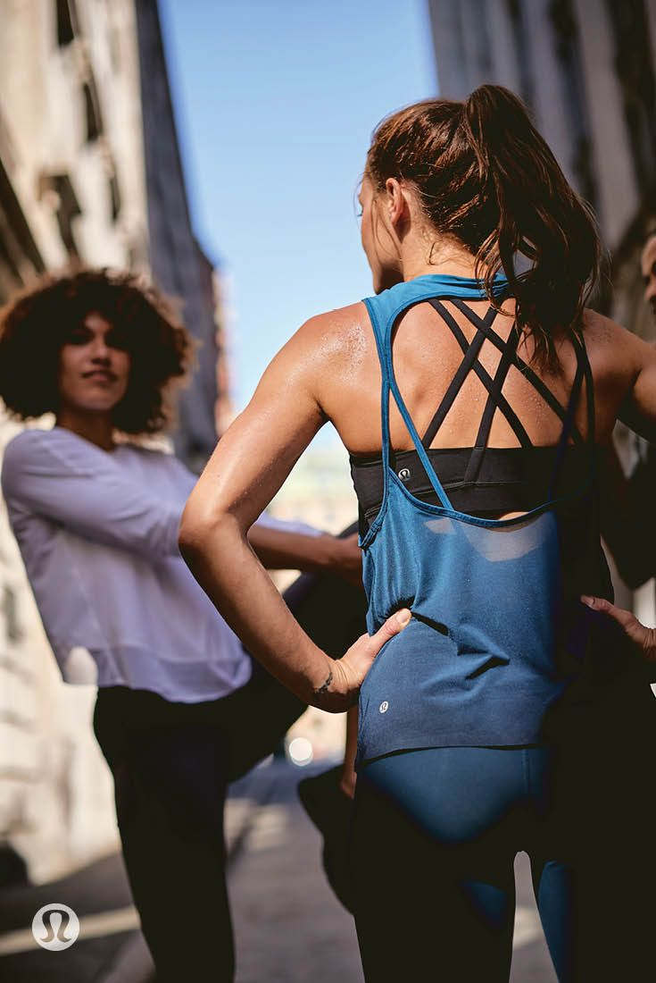 lululemon run gear designed to keep the air flowing when things heat up on your ...