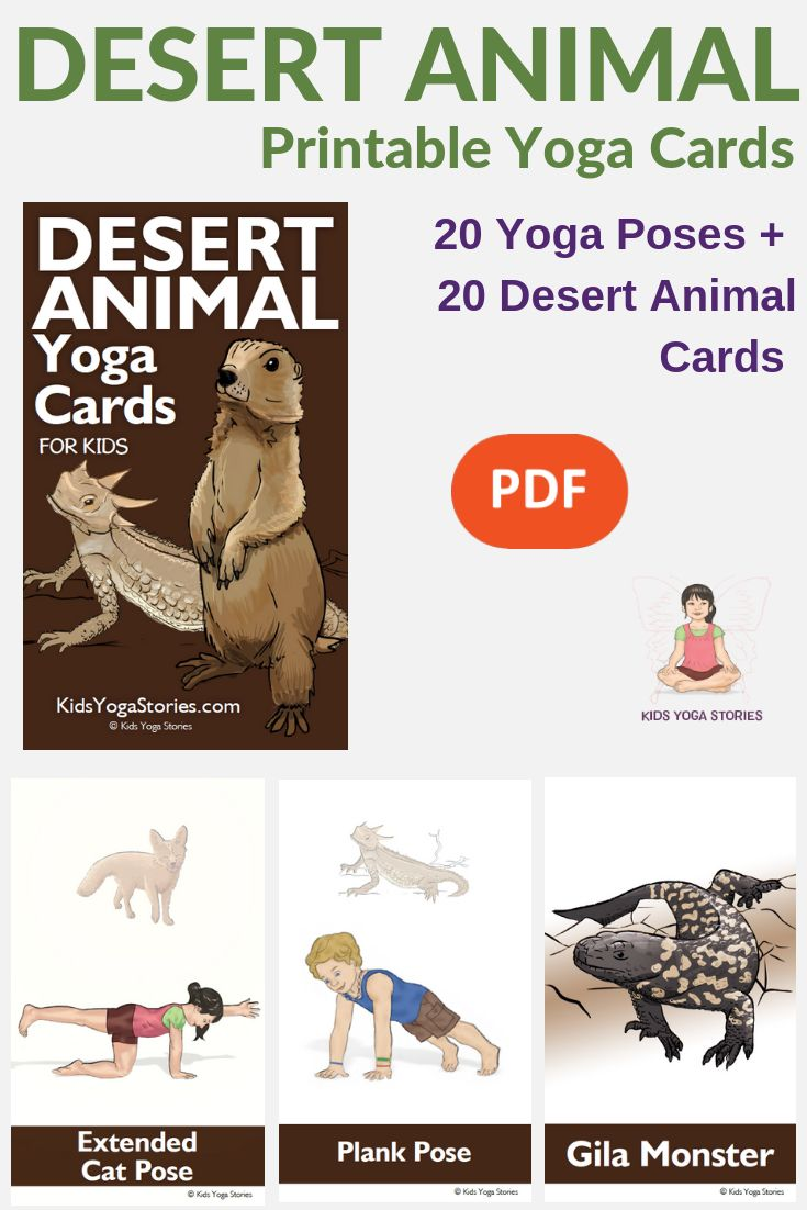 **Desert Yoga Cards for Kids!**  Stand tall like a desert bighorn sheep, soar li...