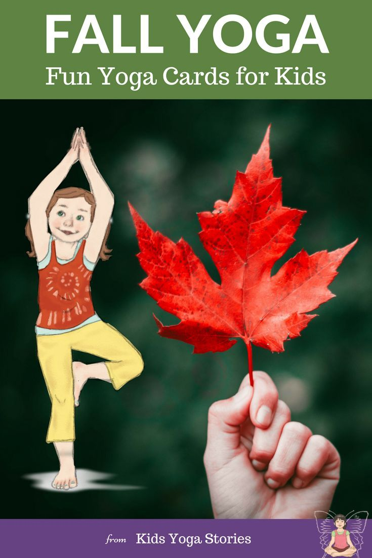 FALL YOGA CARDS!   Enjoy the crisp Autumn air and the changing colors of Fall wi...