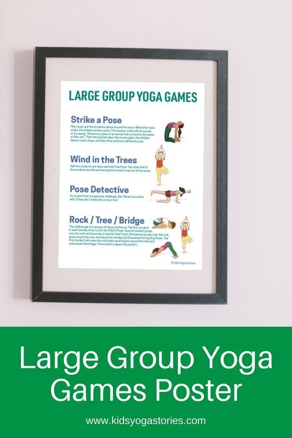 How to Do Yoga Games with Large Groups of Kids (Printable Poster) | Kids Yoga St...