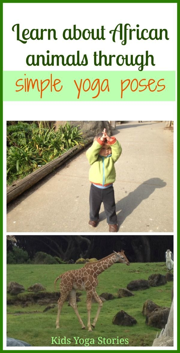 Learn about African Animals through simple yoga poses for kids by Kids Yoga Stor...