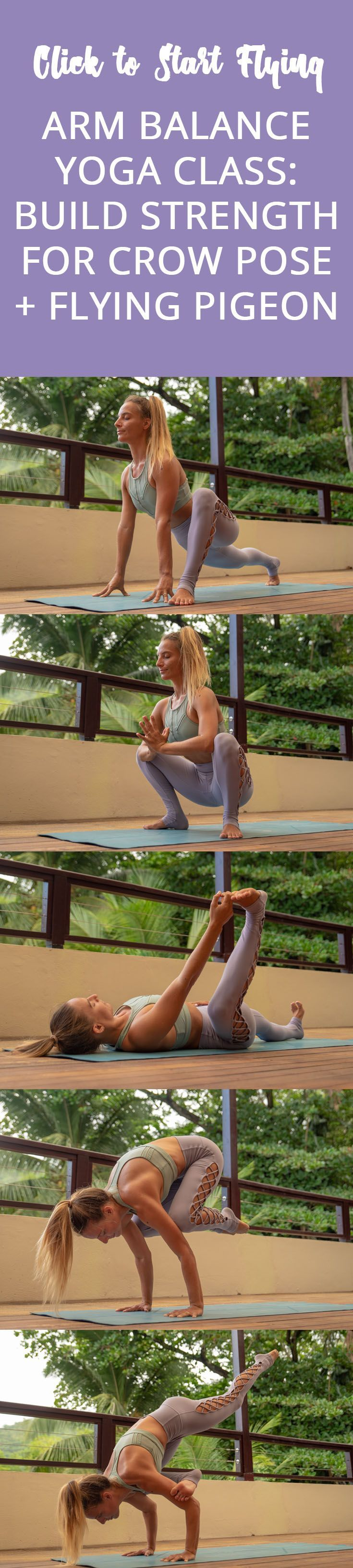 Arm Balance Yoga Class: Build Strength for Crow Pose & Flying Pigeon Pose - The ...