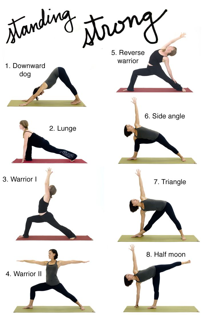 8 classic standing yoga poses make for a strong start to your practice.