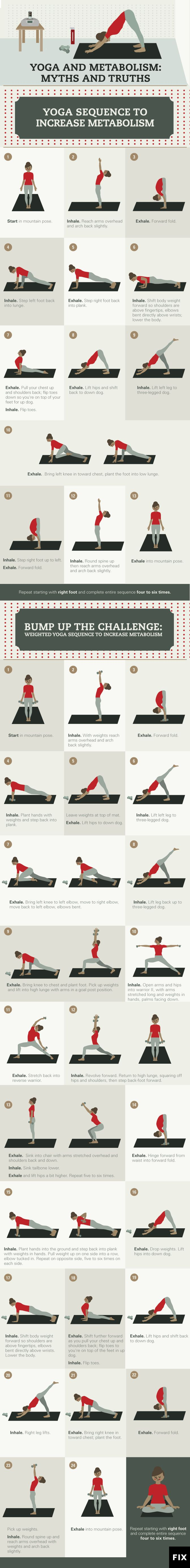 Increase your metabolic rate with these yoga poses! A morning yoga session will ...