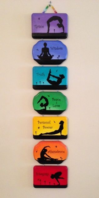 Seven beautiful interconnected hand-painted plaques is perfect for the home or y...