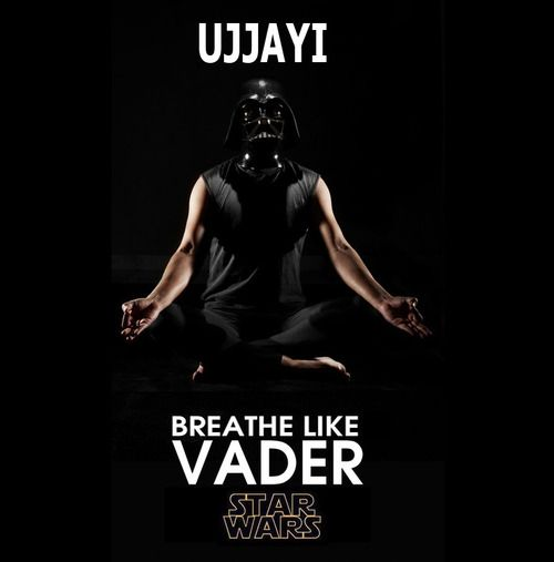 """That was the first cue I heard (ie. """"breath like vader)..."""