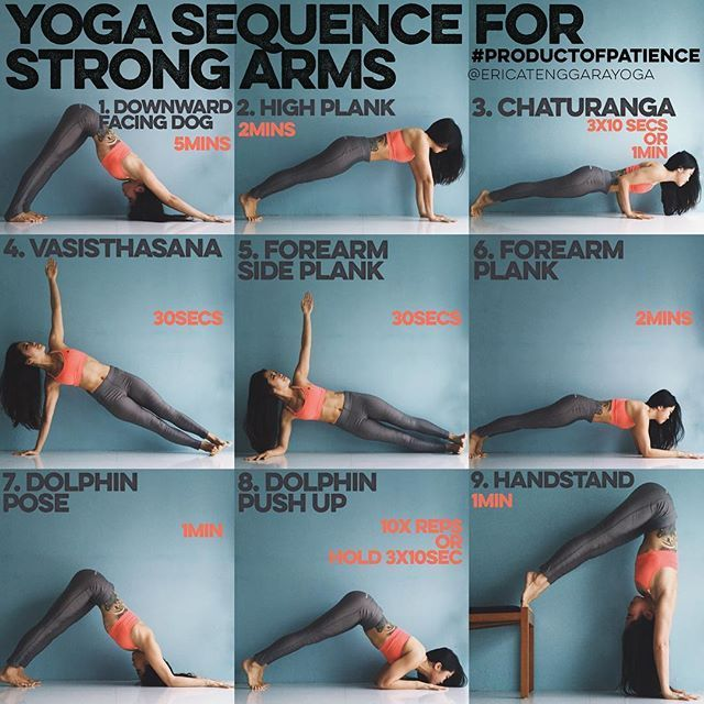 YOGA SEQUENCE FOR STRONG ARMS This sequence is all about holding, most yoga…