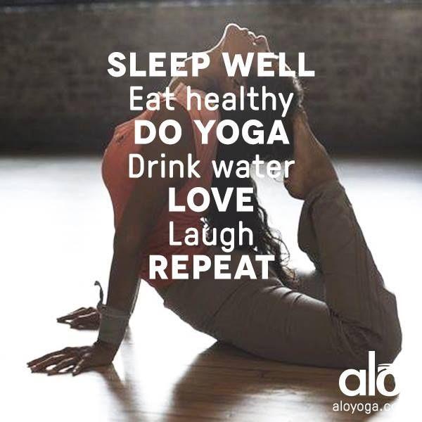 Yoga Inspirations: Sleep Well, Eat Healthy, DO YOGA… From the new Downdog Diar...