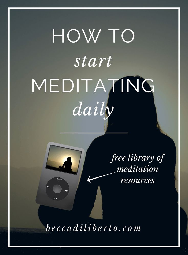 easy ways to make meditation a sustainable self care ritual | click to learn how
