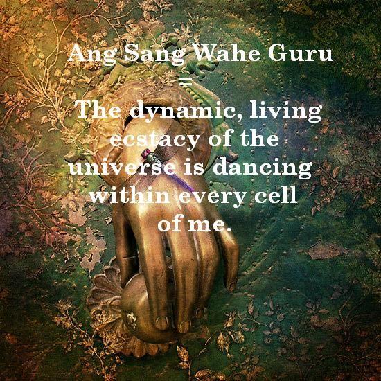 Kundalini Yoga Mantra 'Ang Sang Wahe Guru' with meaning. ♥
